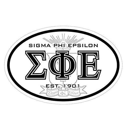 Greekgear Sigma Phi Epsilon SigEp Oval Crest Bumper Sticker