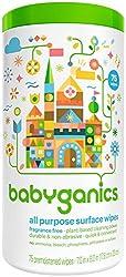 Babyganics All Purpose Wipes - Fragrance Free - 75 ct