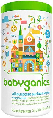 Babyganics All Purpose Wipes, Fragrance Free, 75 ()