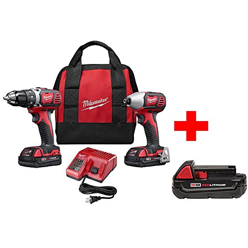 Milwaukee M18 18-Volt Lithium-Ion Cordless Drill Driver/Impact Driver Combo Kit (2-Tool) with Free Battery - Impact Driver M18