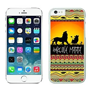 Iphone 6 Cases;cute Iphone 6 Case,hakuna Matata on Sunset Lion King Iphone 6 Plus Cases White