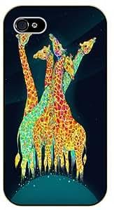 """iPhone 6 (4.7"""") Giraffe's love couple - black plastic case / Animals and Nature, giraffe By SHURELOCK TM"""