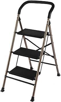 C-J-Xin Escalera al Aire Libre, Escalera Multifuncional portátil del Pasillo de la Escalera del Dormitorio del hogar de la Escalera del Metal Escalera de casa (Tamaño : 45 * 69 * 102CM): Amazon.es: Hogar