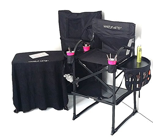 TUSCANYPRO Tall Makeup Chair COMBO SPECIAL--w/ PORTABLE M...