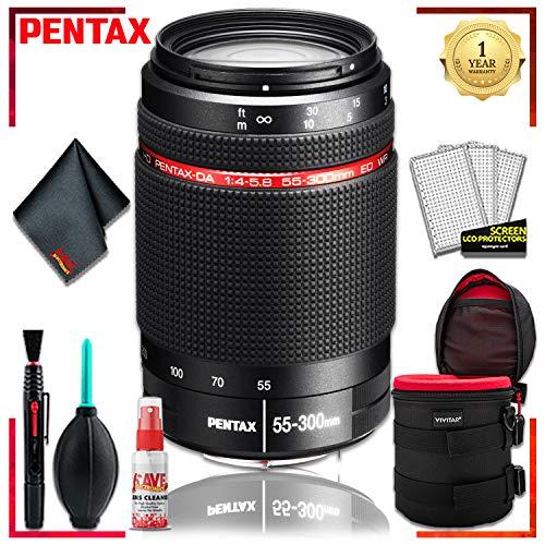 (Pentax DA 55-300 WR 4-5.8 ED Lens + 6 Inch Vivitar Premium Lens Case + Cleaning Kit)