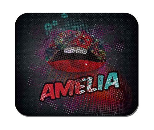 Makoroni - Amelia Female Name - Non-Slip Rubber Mousepad, Gaming Office Mousepad
