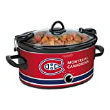 Crock-Pot NHL 6-Quart Manual Cook and Carry Slow Cooker, Montreal Canadiens, Pattern