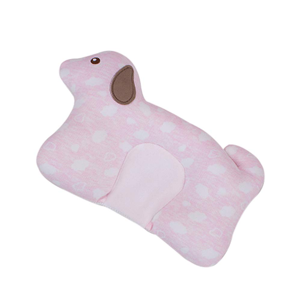 Dear Tomorrow Baby Pillow - Preventing Flat Head Syndrome (Plagiocephaly) for Your Newborn Baby,Made of Memory Foam Head- Shaping Pillow and Neck Support (Pink Dog)
