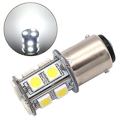 GRV Ba15d 1076 1142 High Bright Car LED Bulb 13-5050SMD DC 12V Cool White Pack of 2: Automotive