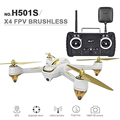 HUBSAN H501SS X4 Advanced FPV Brushless Quadcopter Drone with HD Camera Live Video GPS RTF White by HUBSAN