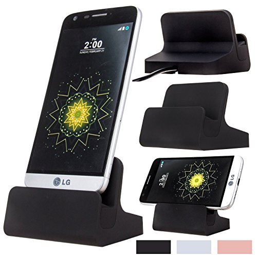 USB Type C Charger, AnoKe USB 3.0 Replacement Desktop Charging Docking Station Cradle Pad + USB Cable for LG G5 Nexus 5X/6P HTC 10/Oneplus 2 / Lumia 950XL Type-C Charger DOCK Black