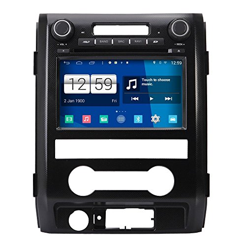 Android 4.4.4 Car Stereo Radio Head Unit GPS Navigation DVD Player for 2009 2010 2011 2012 Ford F150 w/ Radio/Steering Wheel/Bluetooth/Wifi/AV-IN/16Gb Memory/Quad Core/Mirror Link/Air Play