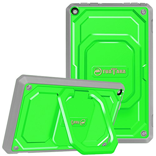 Fintie Shockproof Case for All-New Amazon Fire HD 8 Tablet (7th Gen 2017) - [Tuatara Magic Ring] [360 Rotating] Multi-Functional Grip Stand Protective Carry Cover w/ Built-in Screen Protector, Green
