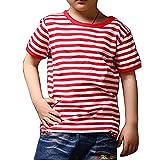 red and white shirt - Ezsskj Kid's Boys Girls Red White Striped T Shirts Children's Tee Tops
