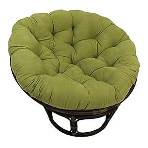 International Caravan Rattan 42 Inch Papasan Chair With Micro Sue