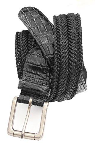 7917-BLK - Marco LTD Men's Cotton Braided Dress Belt Big & Tall