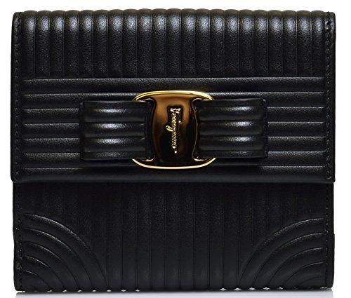 Salvatore Ferragamo Women's Sqaure Quilted Vara Bow Wallet (One Size, Black) by Salvatore Ferragamo