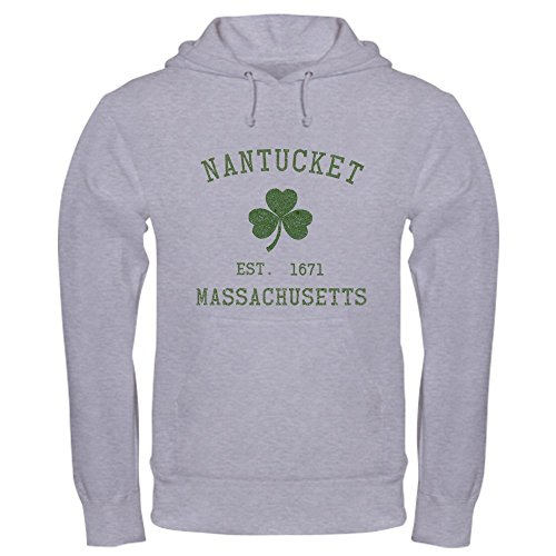 CafePress Nantucket Pullover Hoodie, Classic & Comfortable Hooded Sweatshirt Heather Grey