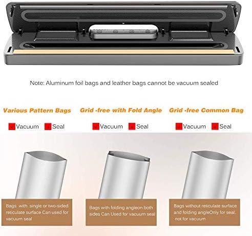 Tidyard Vakuumiermaschine Automatisches Vakuum-Luftdichtungssystem mit 15 Versiegelungsbeuteln für die Aufbewahrung von Lebensmitteln