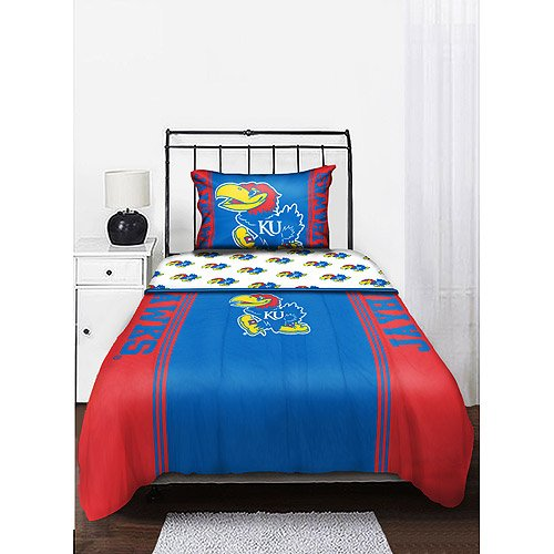 (NCAA Kansas U Jayhawks Full Comforter & Sheet Set (5 Piece Bed in A Bag))