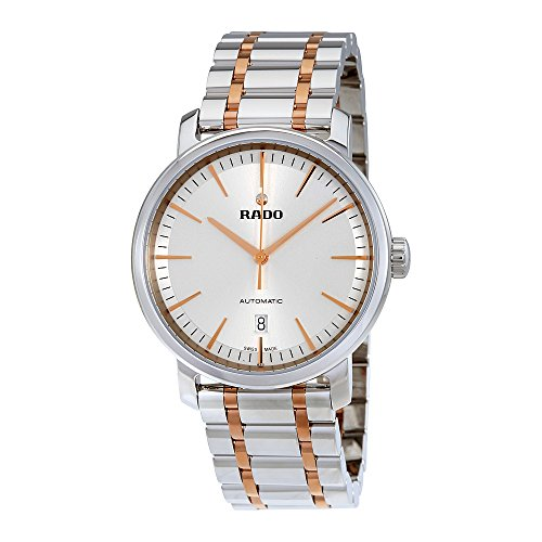 RADO R14077113 Diamaster XL Automatic Men's LUXURY WATCH Swiss Automatic rose Two tone gold 41mm case