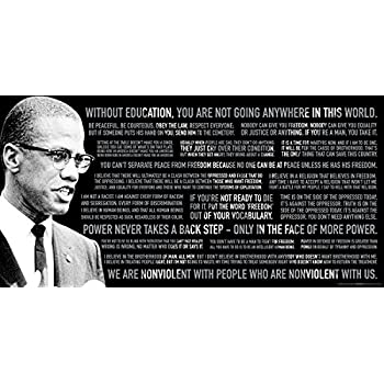 Malcolm X Quotes Political Civil Rights Icon Celebrity Print Unframed 12x24 Poster