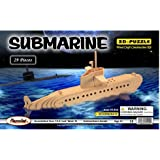 Puzzled Submarine Wooden 3D Puzzle Construction Kit