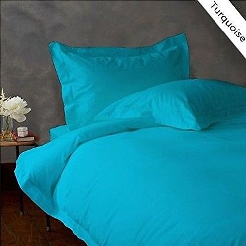 """Egyptian Quality ( 1PCs Flat Sheet Only )- Twin Size- Latest Tremendous Flat Solid Colors ( """"Turquoise"""" ) By Galaxy's Linen ( 400 TC )"""