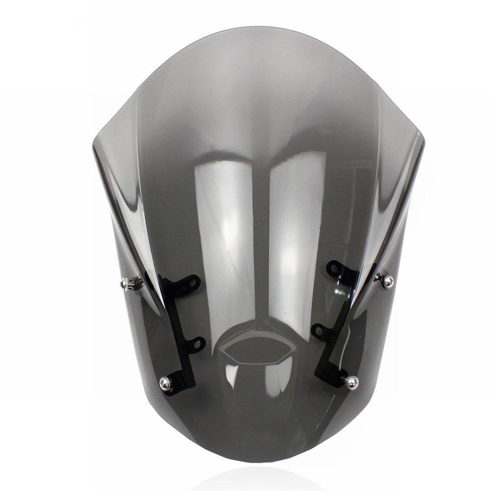 Smoke XX eCommerce Motorcycle Motorbike Windshield Windscreen w//Mounting Bracket for 2013-2016 Yamaha MT-09 FZ-09 2014 2015