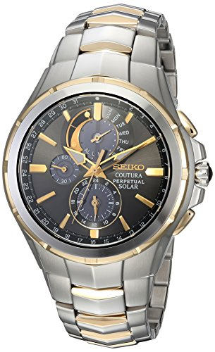 Seiko Men's 'COUTURA' Quartz Stainless Steel Casual Watch, Color:Two Tone (Model: SSC376)