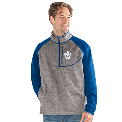 onto Maple Leafs Adult Men Mountain Trail Half Zip Pullover, X-Large, Gray ()