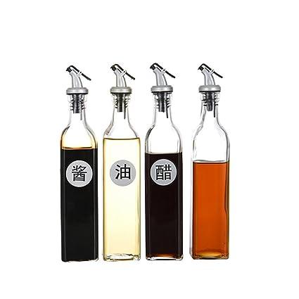 Cruet Cocina Vidrio Botella de Salsa de Soja Botella de vinagre a Prueba de Fugas Botella