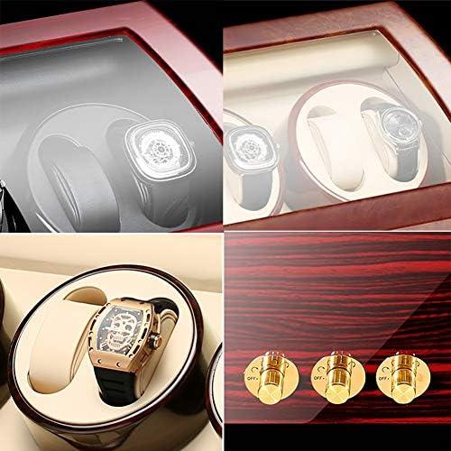 Zyy Automatico Scatola Carica Orologio 8+9 Custodia Per Display Motore Silenzioso 5 Rotazione Modalità Shell Di Legno+pianoforte Vernice (Color : Black-a)