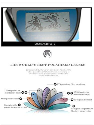 Sol UV 400 Gafas para C5 C2 Polarizadas Protección para De Mujer Aviator Hombre F4xqC4w
