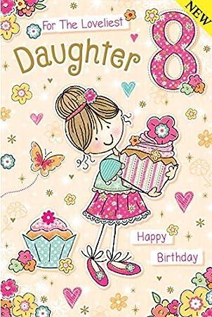 Para los más bellos hija edad 8 - 8th Tarjeta de cumpleaños ...