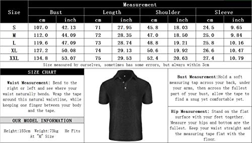 poriff Men\'s Shiny Sequins Polo Shirt 70s Disco Nightclub Party Short Sleeve T Shirts Silver L