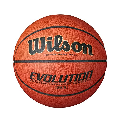 Wilson Evolution Intermediate Size Game Basketball, Brown WTB0586