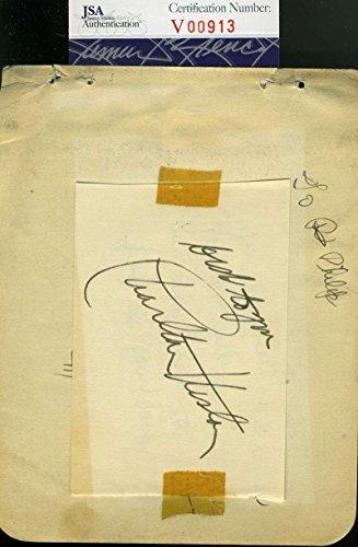 CHARLTON HESTON COA Hand Signed Vintage Album Page Autograph Authentic - JSA Certified
