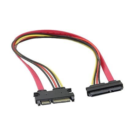 7+15 Sata, Klinke auf Stecker, 22-Pin, 30 cm SIENOC Verl/ängerungs kabel 2 St/ück