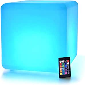 LED Cube: 12-inch LOFTEK Shape Light, Rechargeable and Cordless Decorative Light with 16 RGB Colors and Remote Control (Renewed)