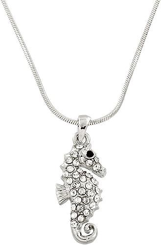 Sterling silver seahorse charm realistic 3 dimensional design seahorse pendant
