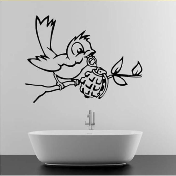 jecswolz Banksy Tatuajes De Pared con Granada Deco Art Vinyl ...
