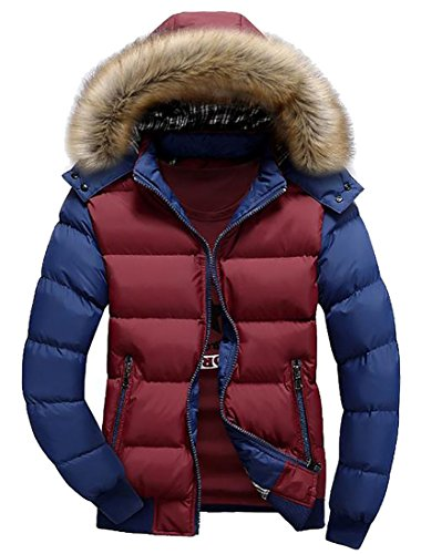 Year Coat Casual Outwear Fly Winter 2 Mens Block uk Parkas Color pPddTqHz