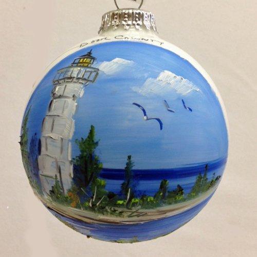 Cana Island Lighthouse Glass Ball ()