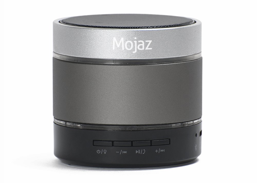 MOJAZ by Teknub - Wireless Bluetooth mini portable audio android speaker with built-in rechargeable battery for use at home or outdoor