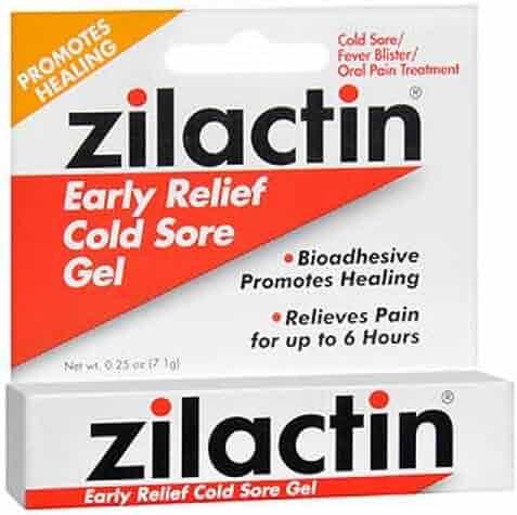 Zilactin Cold Sore Gel, Medicated Gel 0.25 oz