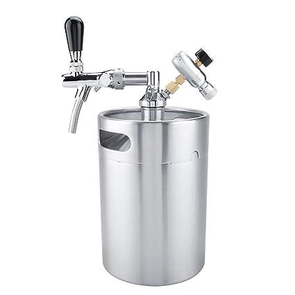 5L de Acero Inoxidable Barril de Cerveza Cerveza cervecera Kit de fabricación Cerveza Barril Dispensador Inicio