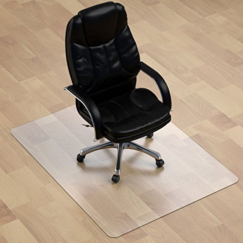 "Thickest Hard Floor Chair Mat - 1/8"" Thick 47"" X 35"" Rectangular Heavy Duty Chair Mat for Hardwood Floor, Anti Slip PVC Multi Purpose (Office, Home) Floor Protector"