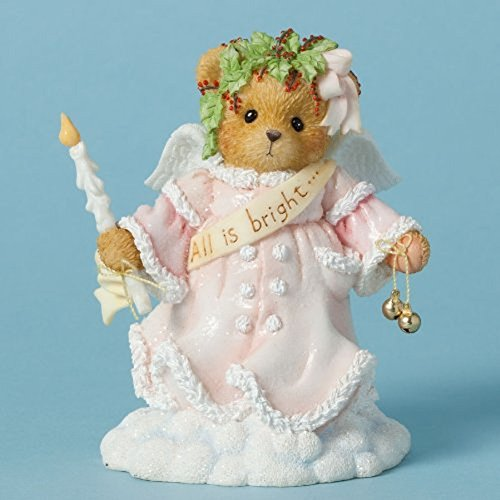 (Cherished Teddies Wynter All is Bright Bear Holding Candle Christmas Figurine)