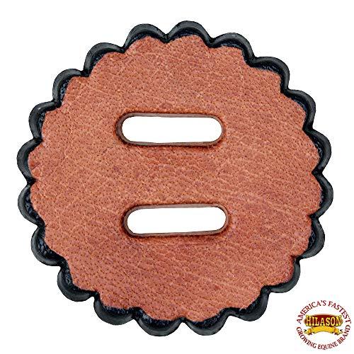 HILASON 06 Pack Slotted Scalloped Leather Rosette Concho Saddle TACK TAN 2
